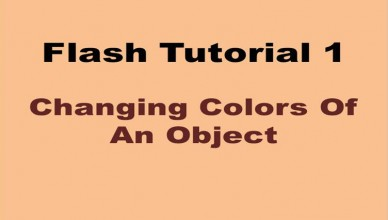 Changing Colors of An Object Using Flash