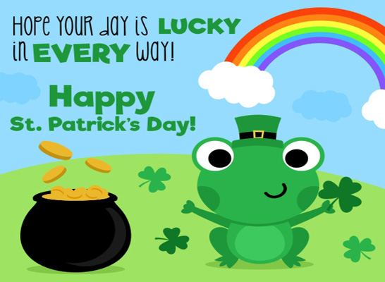 Image result for happy st patrick's day frog